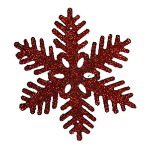 Julgranshänge Snöflinga - Röd