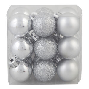 Julgranskulor Mix Silver - 18-pack