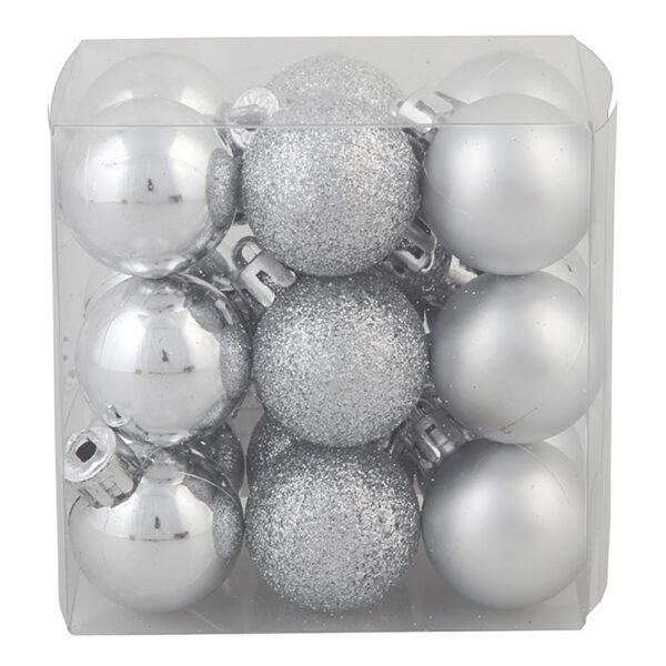 Julgranskulor Mix Silver - 18-pack