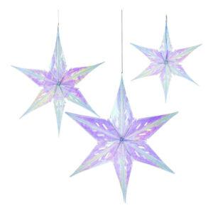 Julstjärnor Regnbågsskiftande - 3-pack