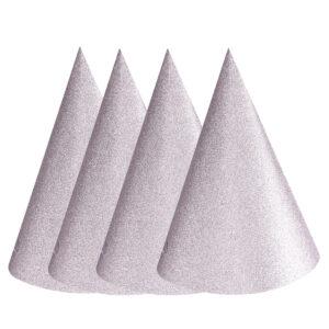 Partyhattar, silver 4-pack