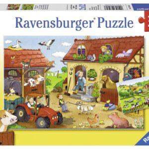 Ravensburger Pussel Arbetet på farmen 2x12-bitar