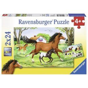 Ravensburger Pussel En värld av hästar 2x24-bitar