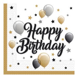 Servetter Happy Birthday Ballonger - 20-pack
