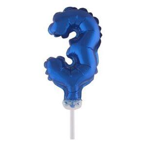 Sifferballong Mini Blå - Siffra 3