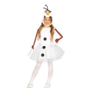 Snögubbe Klänning Barn Maskeraddräkt - Small