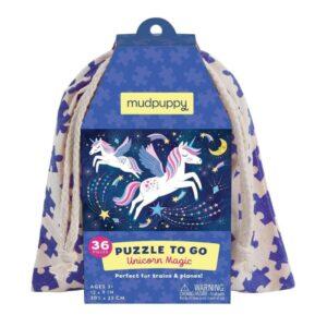 mudpuppy Pussel to go 36-bitar (Magiska enhörningar)