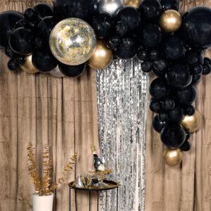 Ballongbåge Kit Svart/Guld
