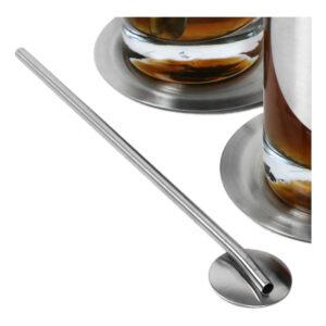 Barskedar med Sugrör i Rostfritt stål - 4-pack
