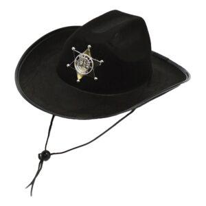 Sheriffshatt Svart - One size
