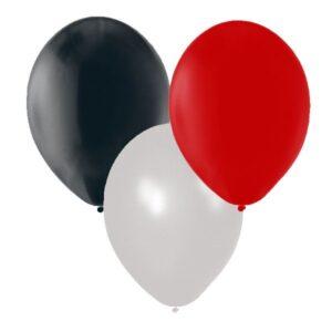 Ballonger Röd, Silver, Svart