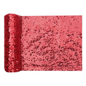 Bordslöpare Paljetter Röd