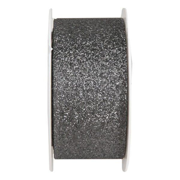 Dekorationsband Grå Glitter