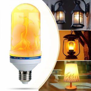 Flammande LED-lampa - E14-sockel