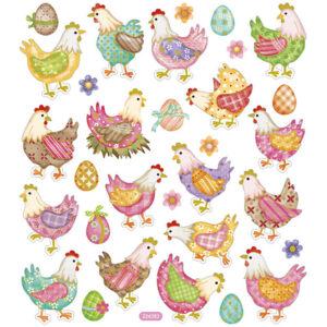 Klistermärken Påsk, Hönor & Ägg