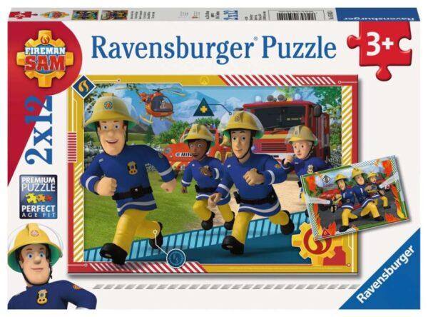 Ravensburger Pussel Brandman Sam 2x12-bitar