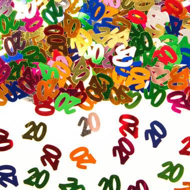 20-års färgglad konfetti