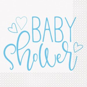 Babyshower Servetter Ljusblå