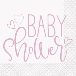 Babyshower Servetter Ljusrosa