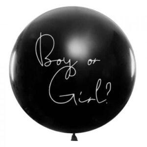"Ballong Gender reveal ""boy or girl"" Ljusrosa"