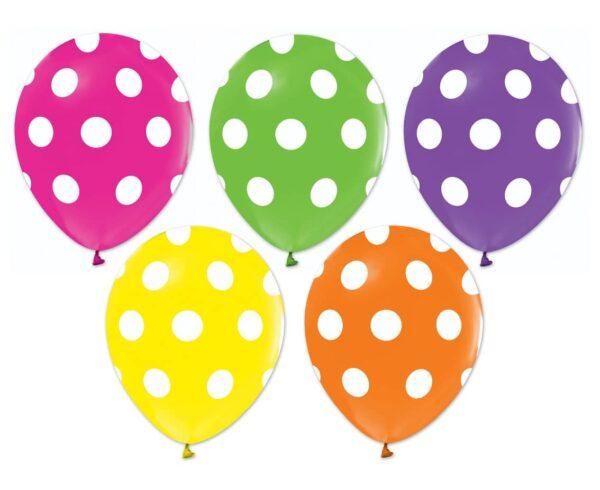 Ballonger med prickar 5-pack