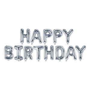 Ballonggirlang Happy Birthday Silver