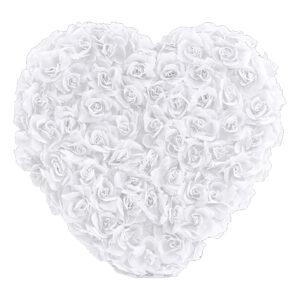 Bildekoration Hjärta med Blommor Vit - 1-pack