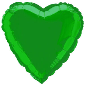 Folieballong Hjärta Grön