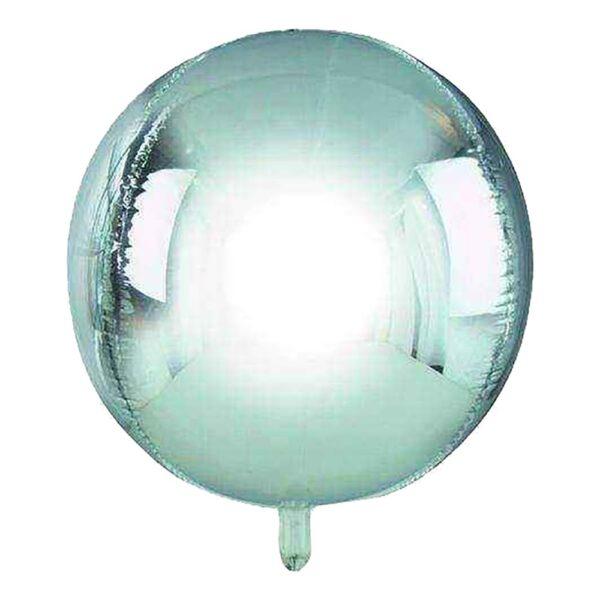 Folieballong Orbz Silver Metallic