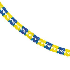 Girlang, blå/gul