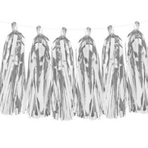 Girlang tofsar silver