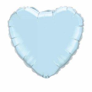 Heliumballong stort ljusblått hjärta