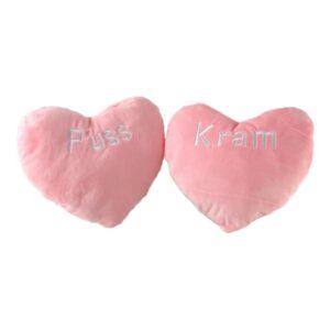 Hjärtkudde Puss/Kram Rosa - 1-pack osorterat