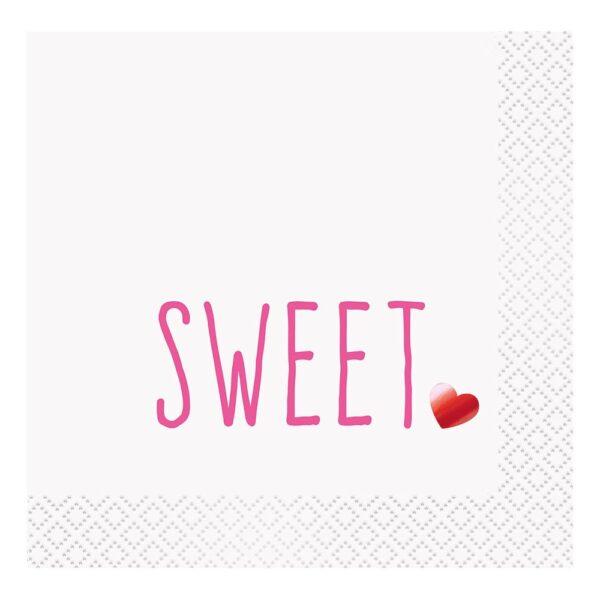 Kaffeservetter Sweet Heart - 16-pack