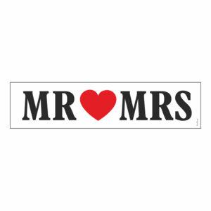 Nummerplåtsskylt Mr Mrs