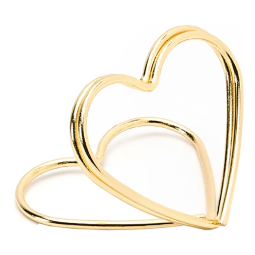 Placeringskortshållare Hjärtan Guld Metallic - 10-pack