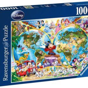 Ravensburger Disney Världskarta Pussel 1000-bitar