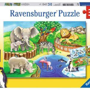 Ravensburger Pussel Djur på Zoo 2x12-bitar