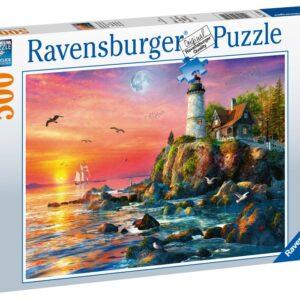 Ravensburger Pussel Lighthouse at Sunset (500-bitar)