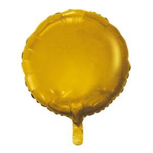 Rund Heliumballong guld