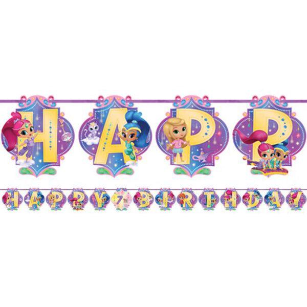 Shimmer and Shine Happy Birthday Girlang