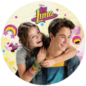 Soy Luna tårtbild, Luna & Simón stärkelseoblat Ø 21 cm