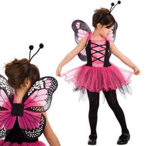 Fjärilsklänning Barn Maskeraddräkt