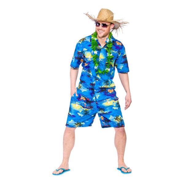 Hawaii Partykille Mörkblå Maskeraddräkt - Medium