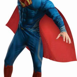 Man of Steel Superman Deluxe Maskeraddräkt (Medium)