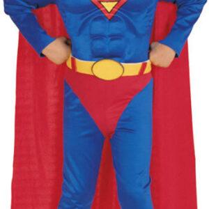 Muskulös Superman Barn Maskeraddräkt (Small)
