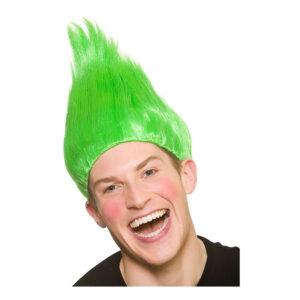 Penntroll Grön Peruk - One size