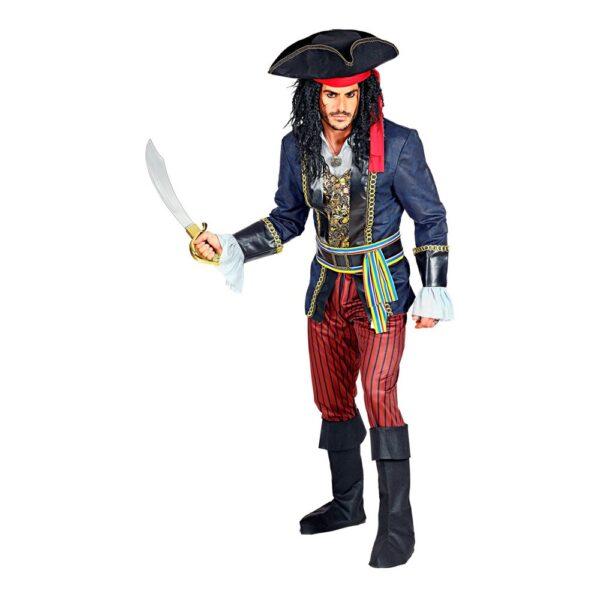 Pirat Kapten Maskeraddräkt - X-Large