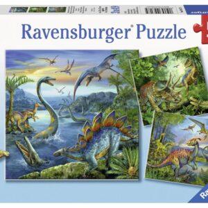 Ravensburger Pussel Stora Dinosaurier 3x49-bitar