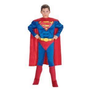 Superman med Muskler Barn Maskeraddräkt - Small